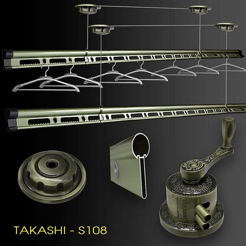 Giàn phơi thông minh quay tay nhập khẩu nhật bản takashi s108