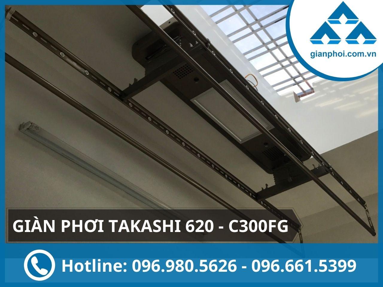 Giàn phơi điện tử điều khiển japan takashi 620 - c300fg