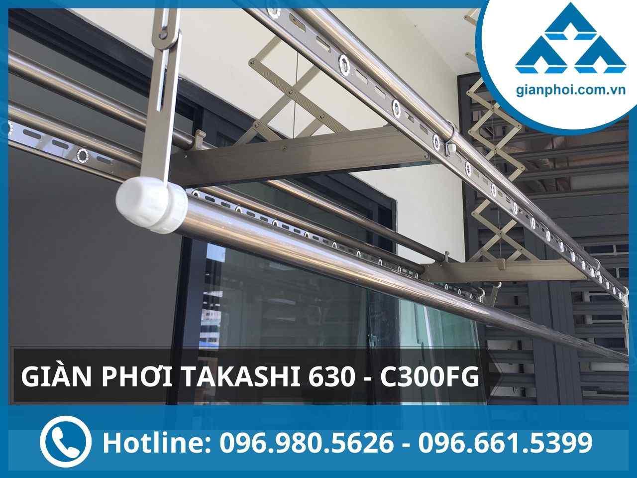 Giàn phơi thông minh điện tử 4 thanh japan takashi 630 - c300fg