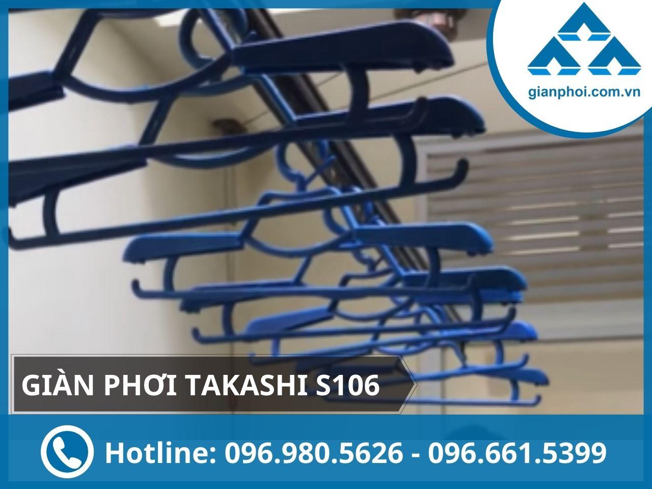Giàn phơi thông minh quay tay nhập khẩu takashi s106