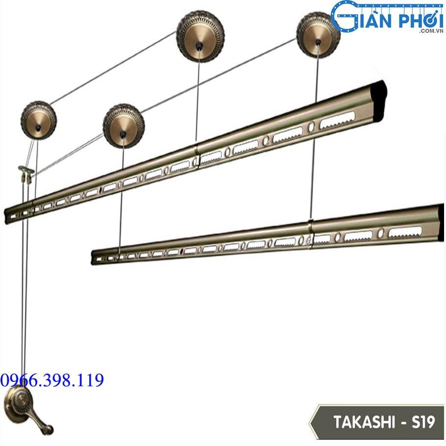 Giàn phơi quay tay nhập khẩu takashi s19