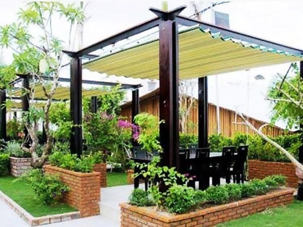 TOP 5+ Mẫu bạt che sân vườn đẹp và hiện đại