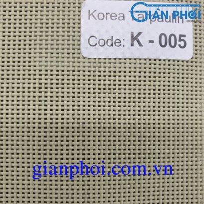 Bạt che nắng hệ rút thông minh nhập khẩu korea k005 màu ghi xám