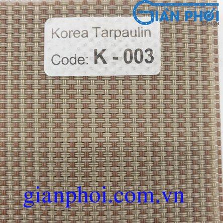 Bạt che nắng hệ tay quay nhập khẩu korea k003 màu xanh, xám