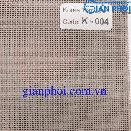 Bạt che nắng hệ rút thông minh nhập khẩu korea k004 độ dày 3.0mm màu ghi xám