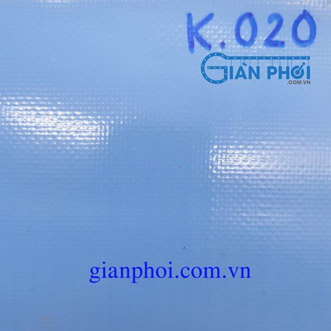 Bạt che nắng hệ rút thông minh korea k020 màu xanh nước biển