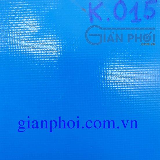 Bạt che nắng hệ mái hiên di động nhập khẩu korea k015 2 lớp màu xanh nước biển